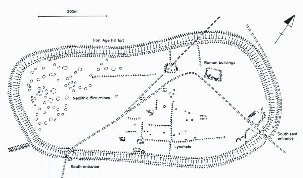 Map of Cissbury Ring