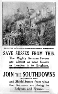 Sussex WWI recruitment poster