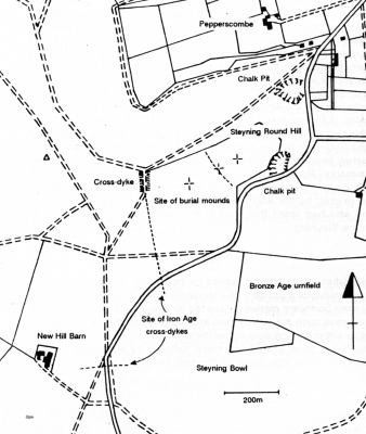Steyning Round Hill Map