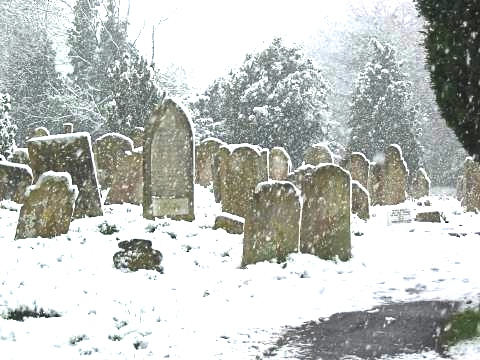 Steyning Church Graveyard in the Snow